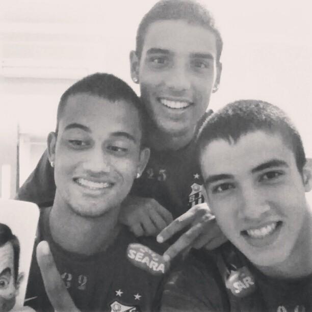 Gustavo Henrique, Jubal e Emerson, do Santos (Foto: Reprodução  / Instagram)