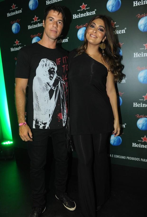Juliana Paes e marido Carlos Eduardo no Rock in Rio (Foto: Francisco Cepeda e Joshua Bryan/AgNews-RJ)