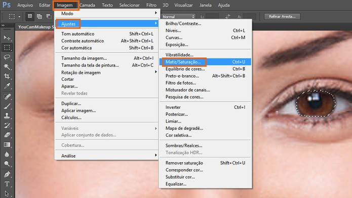 Selecione o ajuste de matriz e saturação no Photoshop (Foto: Reprodução/Barbara Mannara) (Foto: Selecione o ajuste de matriz e saturação no Photoshop (Foto: Reprodução/Barbara Mannara))