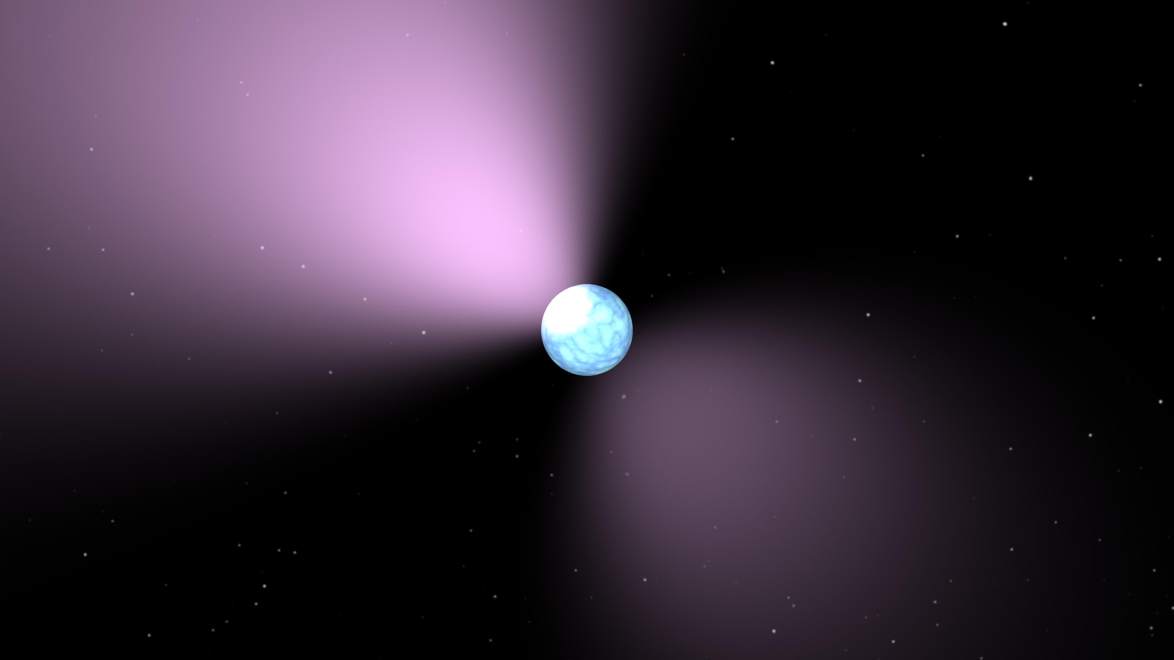 Concepção artística de um pulsar.  (Foto: NASA)