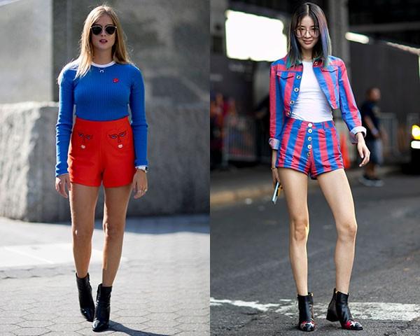 Shorts de cintura alta deixam as pernas frescas quando combinados com botas (Foto: Imaxtree)