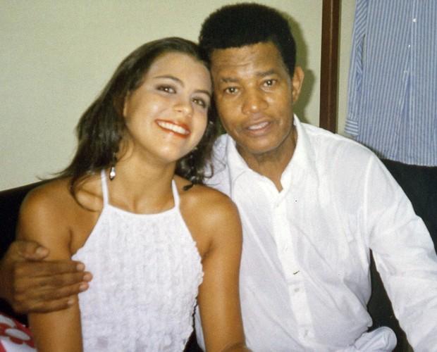 Nanda Garcia com Jair Rodrigues (Foto: Arquivo Pessoal)