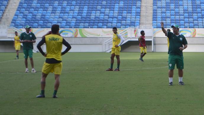 Anthoni Santoro, técnico do Alecrim - jogadores - coletivo - Arena das Dunas (Foto: Jocaff Souza/GloboEsporte.com)