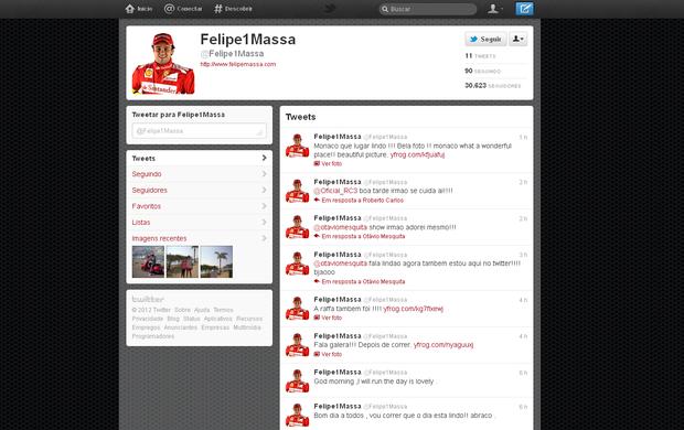 Felipe Massa aderiu à rede social (Foto: Reprodução)