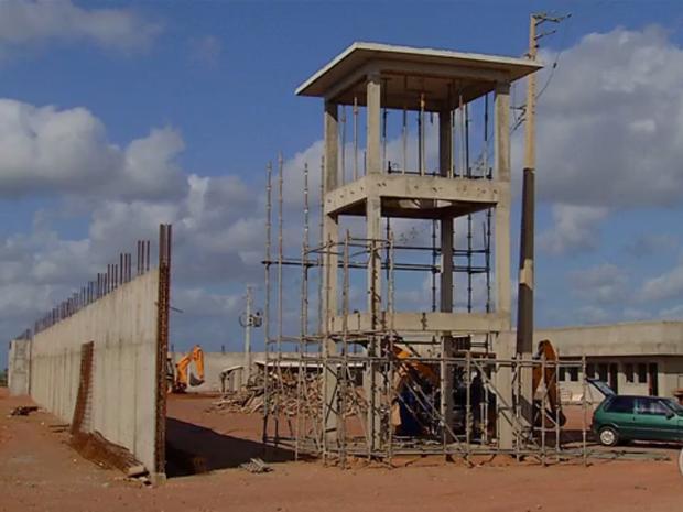 Cadeia Pública de Ceará-Mirim em construção (Foto: Ítalo Sales/Inter TV Cabugi)