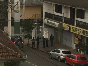 Assalto a agências bancárias em Nova Roma do Sul, RS (Foto: Giovani Zanella Marchesini/Arquivo Pessoal)