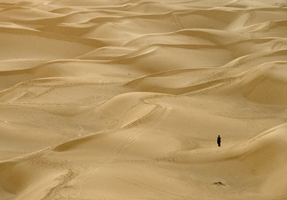 Paisagem de dunas no Erg Chebbi, Marrocos (Foto: © Haroldo Castro/ÉPOCA)