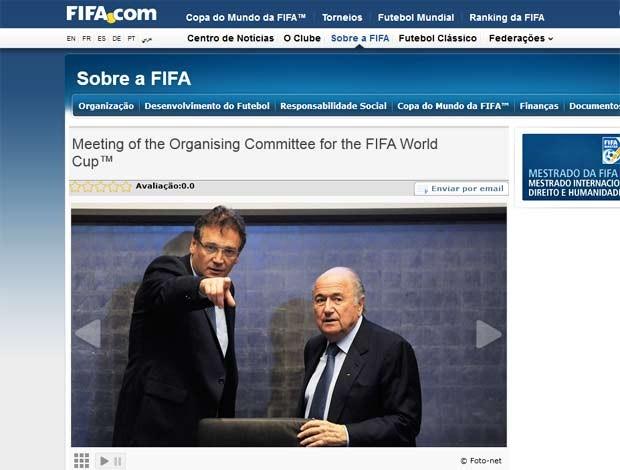 Reprodução FIFA.com jerome valcke e Blatter (Foto: Reprodução Fifa.com)
