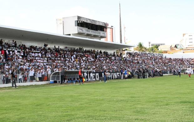 Torcida do Treze foi responsável pelo maior público da primeira rodada do Paraibano (Foto: Magnus Menezes / Jornal da Paraíba)