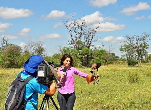 Izabella Freitas é repórter de rede da TV Grande Rio (Foto: Gabriela Canário)