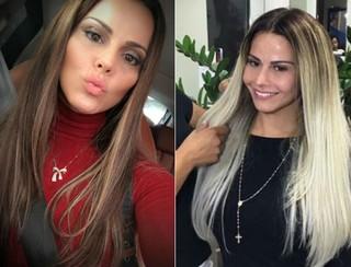 Viviane Araújo: antes e depois de novo visual (Foto: Reprodução/Instagram)