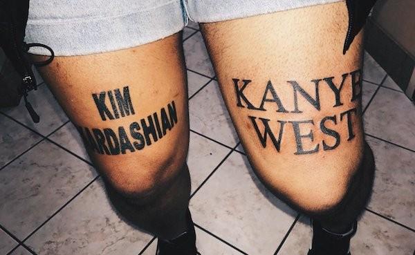 As tatuagens do fã de Kim Kardashian e Kanye West (Foto: Reprodução)