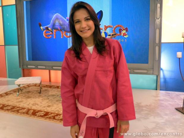 Kyra Gracie (Foto: Encontro com Fátima Bernardes/TV Globo)