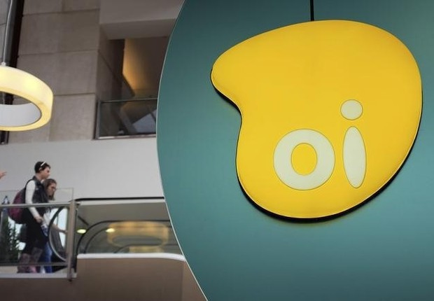 Logo da Oi visto em shopping em São Paulo (Foto: Nacho Doce/Reuters)