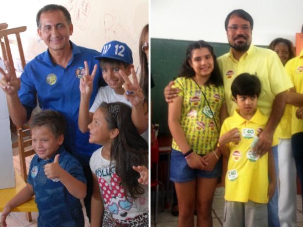 Candidatos Waldez (PDT) e Camilo Capiberibe (PSB) devem disputar o segundo turno no Amapá (Foto: Gabriel Penha e Dyepeson Martins/G1)