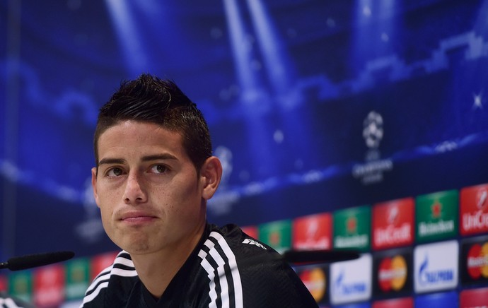 James Rodriguez coletiva Real Madrid (Foto: AFP)