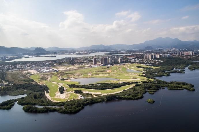 Rio 2016 campo de golfe vista aérea (Foto: Gabriel Heusi/Brasil2016.gov.br)