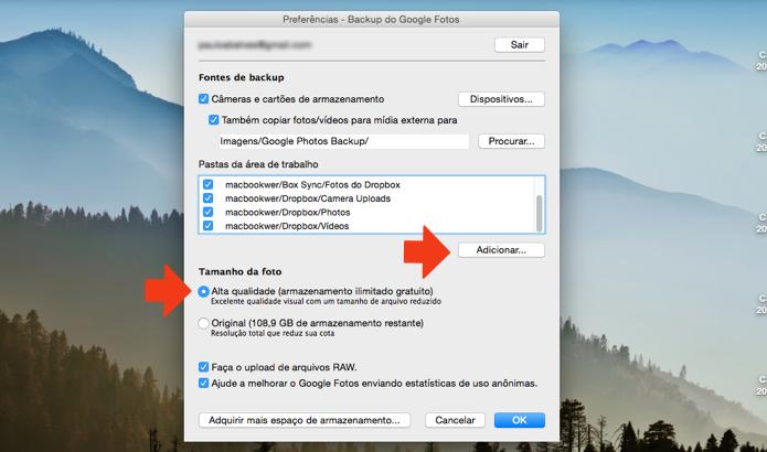 Adicione as pastas do Box e Dropbox ao Google Fotos (Foto: Reprodução/Paulo Alves)