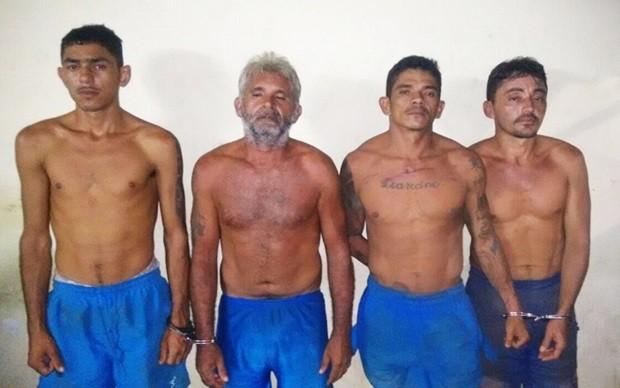 Presos foram recapturados nos arredores da penitenciária, que fica em Nísia Floresta, cidade da Grande Natal (Foto: Divulgação/BPChoque)