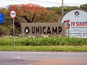 Uma das entradas da Unicamp, no Campus de Campinas (Foto: Luciano Calafiori/G1 Campinas)