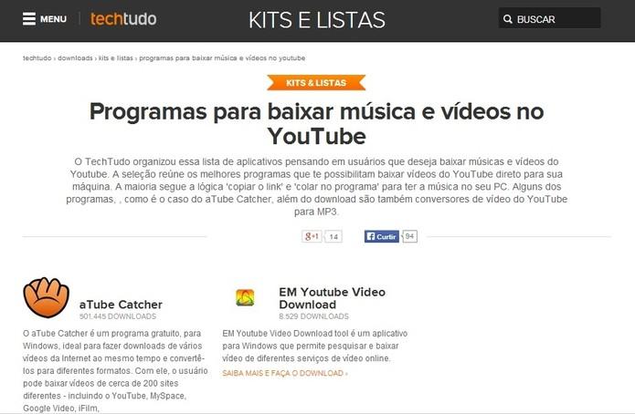 Para começar, instale um dos programas que baixam vídeos do Youtube (Foto: Reprodução/Paulo Finotti)