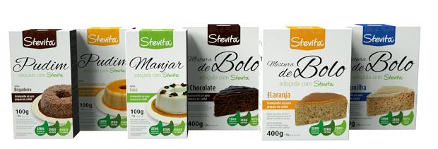 Lançamentos: Pudim de Brigadeiro, Pudim de Leite Condensado, Manjar de Coco, Bolo de Chocolate, Bolo de Laranja e Bolo de Baunilha