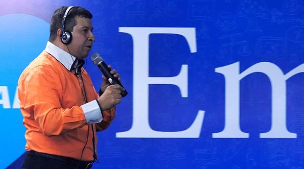 Marcelo Pinto, em palestra durante a Feira do Empreendedor 2016 (Foto: Valdir Ribeiro Jr)