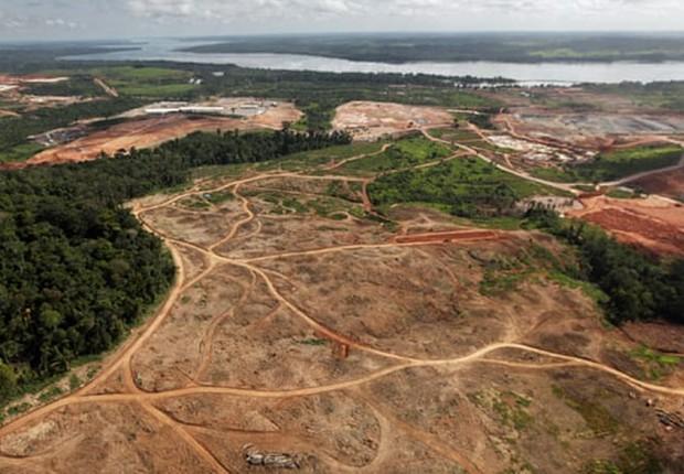Desmatamento na área da Bacia Amazônica, na Amazônia (Foto: Gallo/Getty Images)