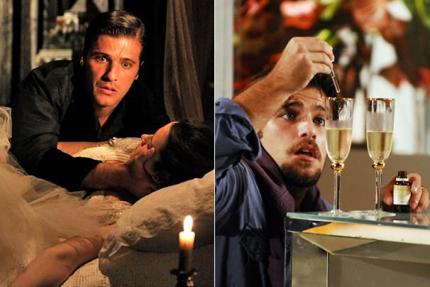 Também ao lado de Bianca Bin, em Cordel Encantado, e como o malandro Berillo, de Passione (Foto: CEDOC Globo)