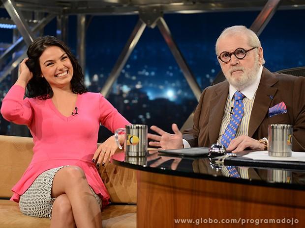 Isis Valverde participa do Programa do Jô desta quinta-feira (Foto: TV Globo/Programa do Jô)