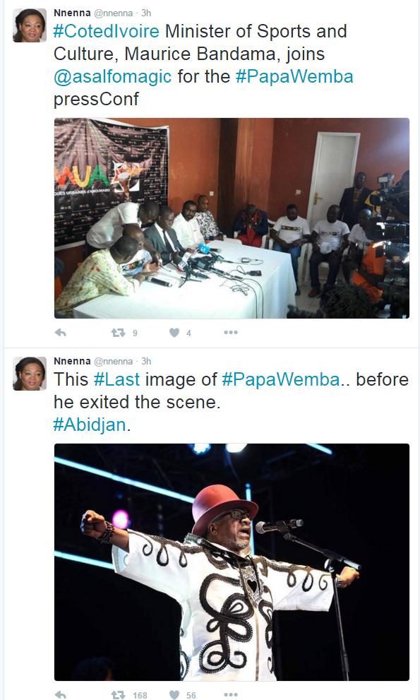 Papa Wemba (Foto: Reprodução/ Twitter)