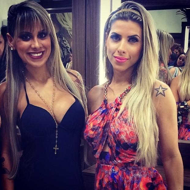 Ex-BBB Vanessa e Ana Paula Minerato em evento em São Paulo (Foto: Instagram/ Reprodução)