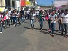Estudantes protestam contra acidentes de trânsito em Araripina, PE