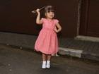Rafaella Justus faz poses em festa da filha de Ronaldo