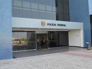 Presos no Amapá foram levados para a Superintendência da PF (Foto: John Pacheco/G1)