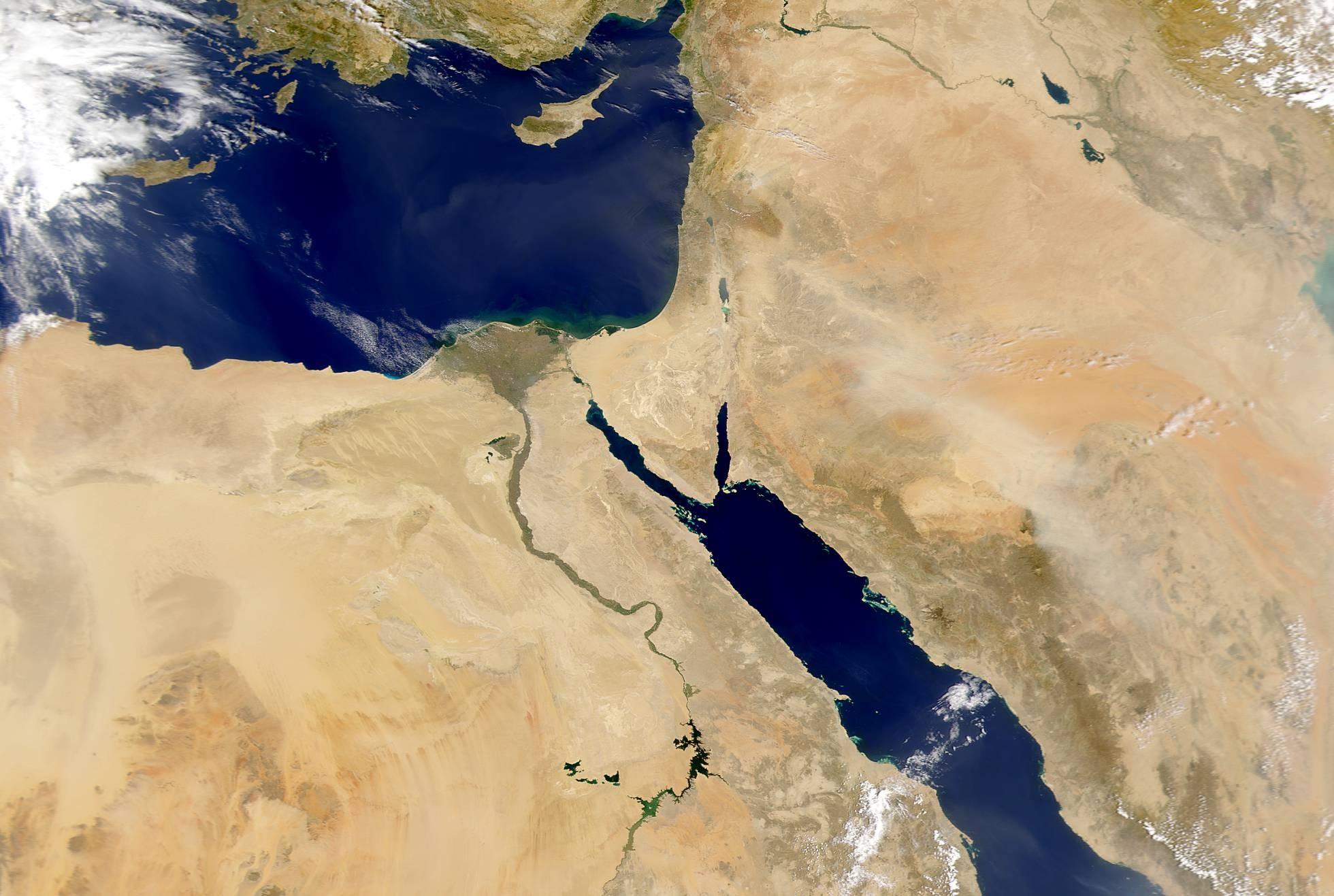 O rio Nilo era a base da sociedade egípcia (Foto: JEFF SCHMALTZ/NASA GSFC)