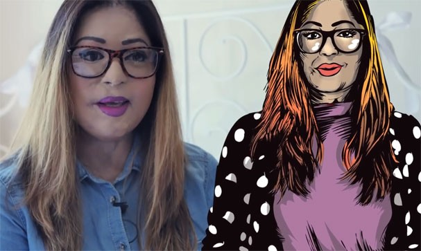 """Monica Singh representada na HQ """"O Espelho de Priya"""" (Foto: Reprodução/Youtube)"""