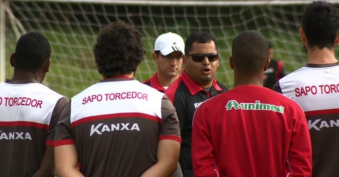 Leston Júnior, técnico Mogi Mirim (Foto: Reprodução EPTV)