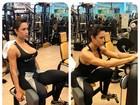 Gracyanne Barbosa mostra série de exercícios de musculação