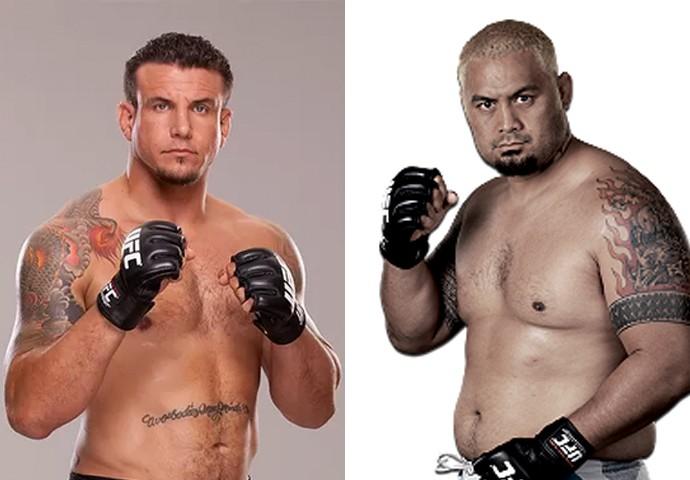 Frank Mir x Mark Hunt; UFC Austrália (Foto: Montagem: Infoesporte)