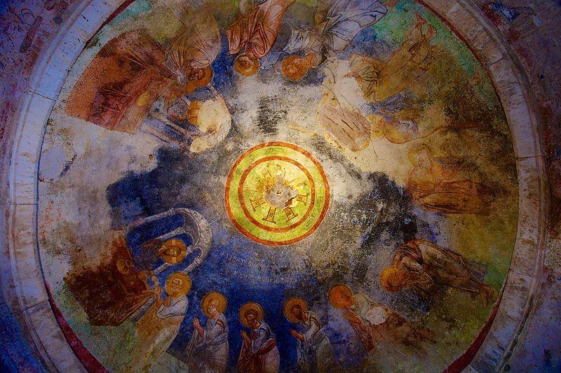 Obra no teto da Igreja de São Nicolau, em Demre, na Turquia (Foto: Wiki Commons)