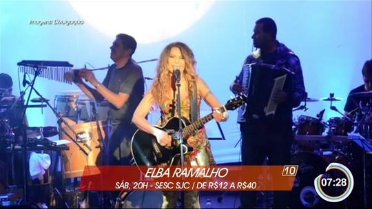 Elba Ramalho e Nando Reis são atrações do fim de semana no Vale