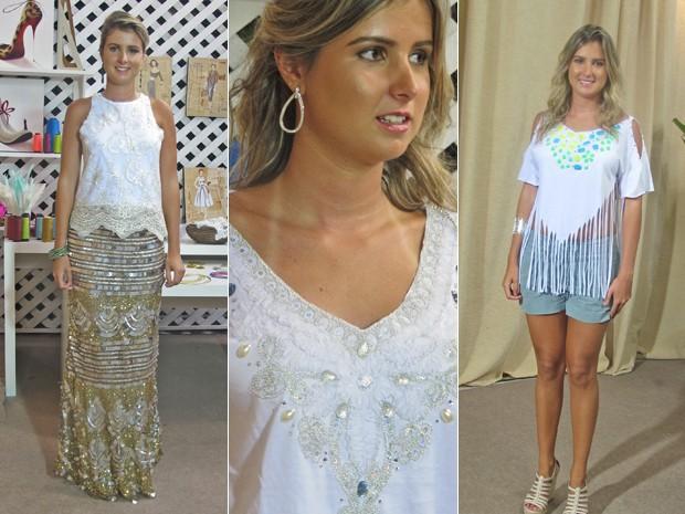 Balada, em casa ou na praia? Uma camisa customizada para cada ocasião (Foto: Mais Você / TV Globo)