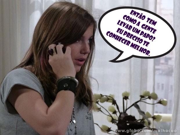 Se liga no papo que a Lia vai mandar pro Sal! (Foto: Malhação / Tv Globo)