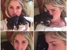 Bárbara Evans posa com cachorrinho: 'Exaustos'