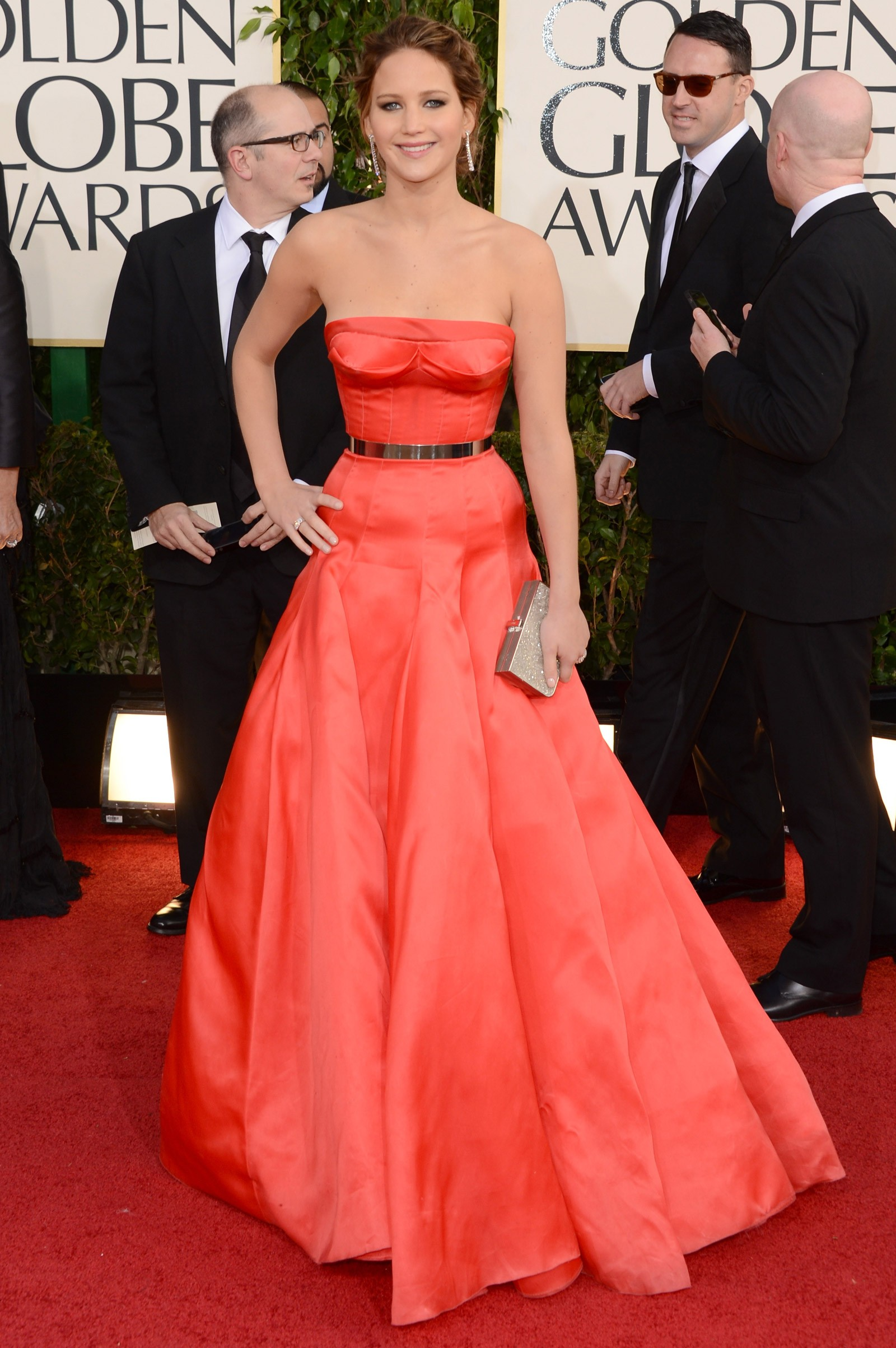 2012 - melhor atriz de comédia ou musical para Jennifer Lawrence, que vestiu Dior (Foto: Getty Images)