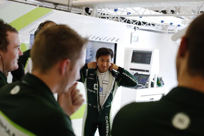 Kamui Kobayashi durante o GP da Hungria (Foto: Divulgação)