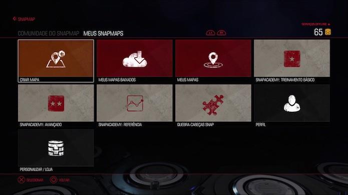 Doom: menu do Snapmap traz tutoriais básicos e avançados (Foto: Reprodução/Victor Teixeira)
