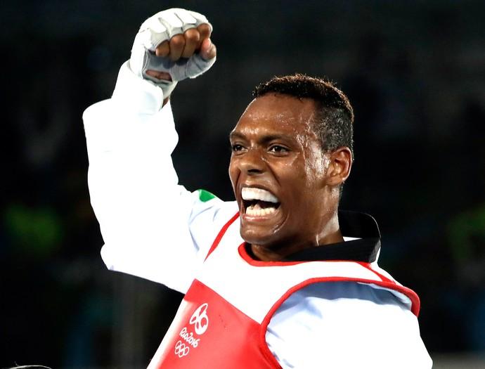 Maicon Andrade Siqueira, Bronze taekwondo (Foto: Agência AP)