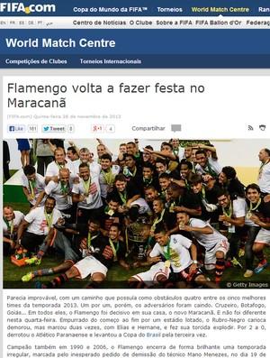 Print site Fifa Flamengo (Foto: Reprodução)